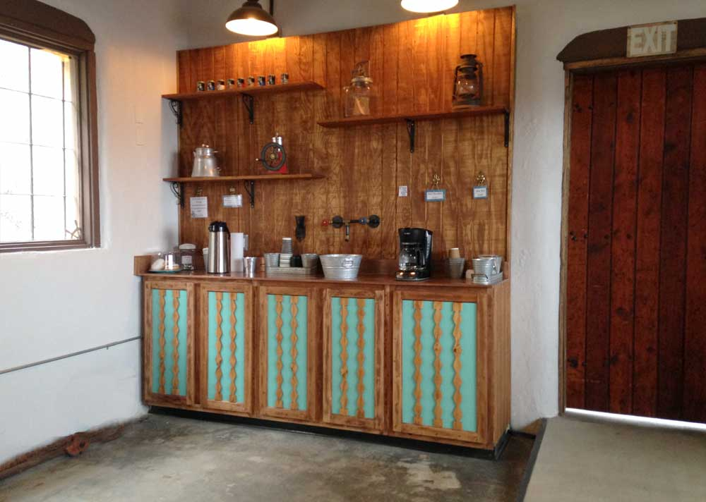 coffee bar at the Dam Site Welcome Center