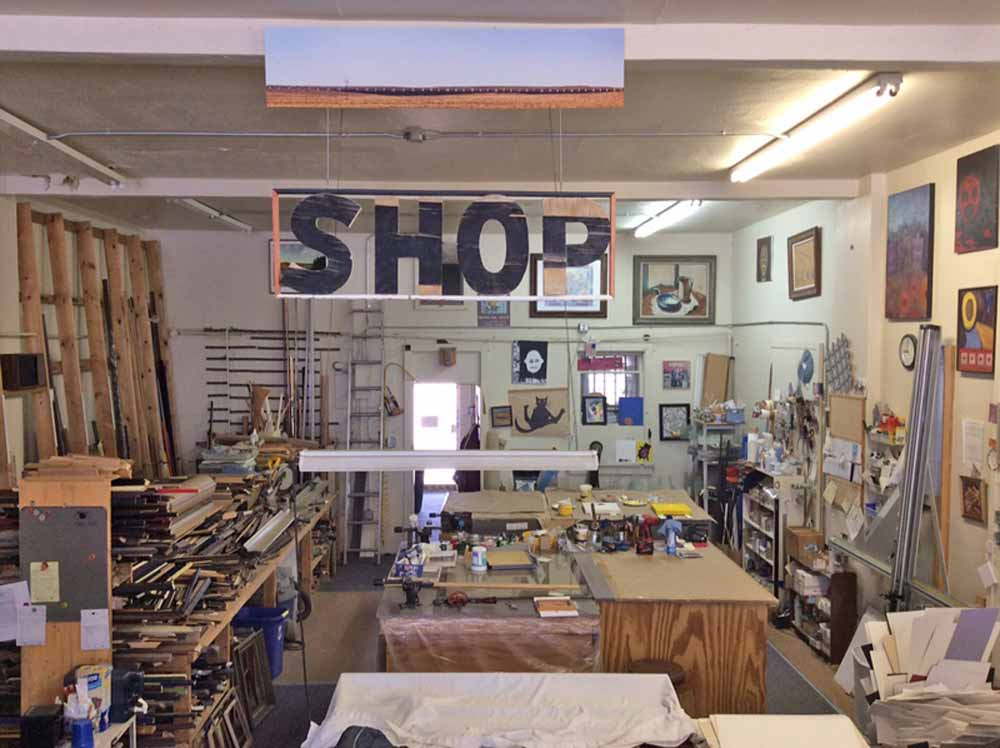 frame shop area of Hot Springs Frame and Art Supply
