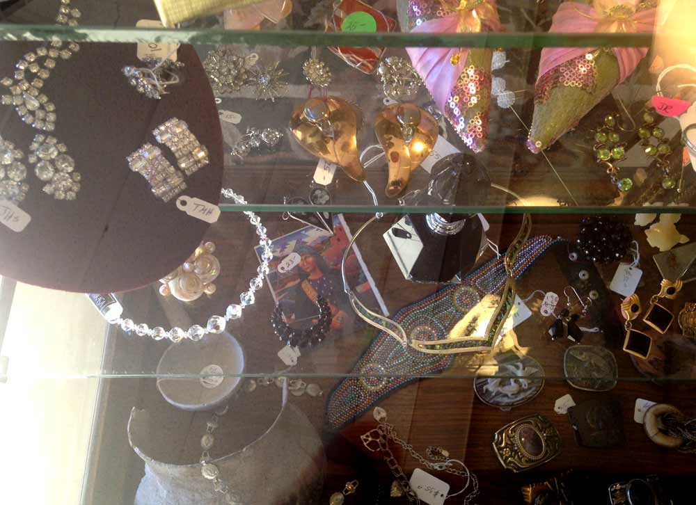 jewelry case at Januarys Collectibles and Antiques