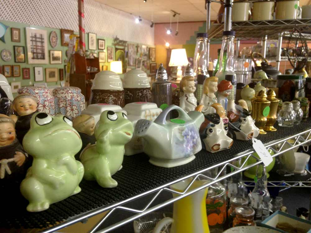 salt shakers at January's Collectibles and Antiques