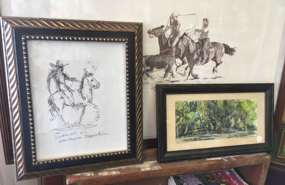 art by local cowboy artists Shoofly and Loren Schmidt at Junkology