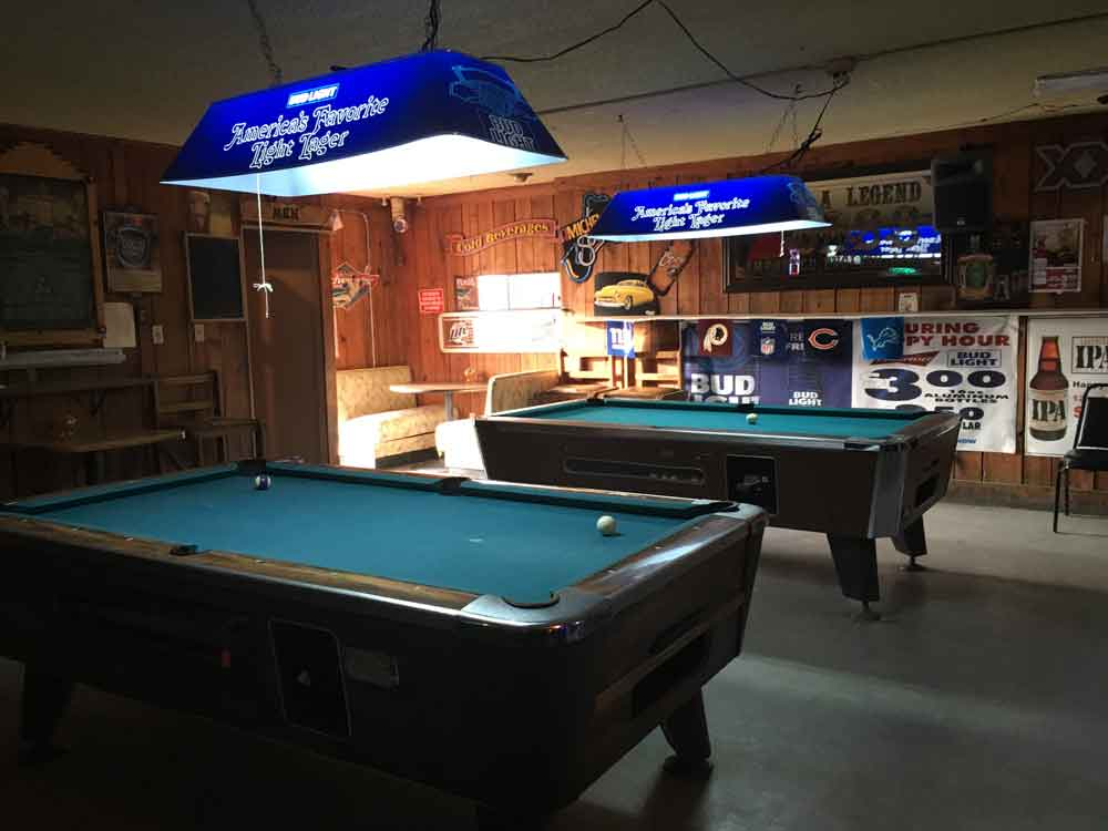 pool tables at Raymond's Lounge in Truth or Consequences