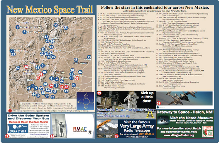 New Mexico Space Trails Map