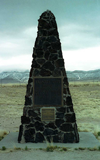 Trinity Site marker in Southern New Mexico