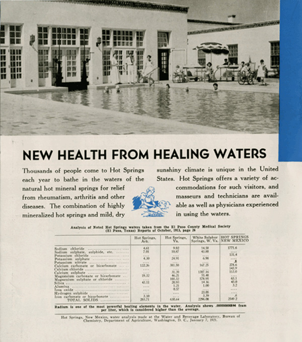 new health from healing water in Hot Springs New Mexico