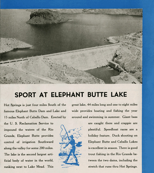 Sports at Elephant Butte Lake, just five miles from Hot Springs New Mexico