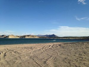 sandy beach, Elephant Butte Lake