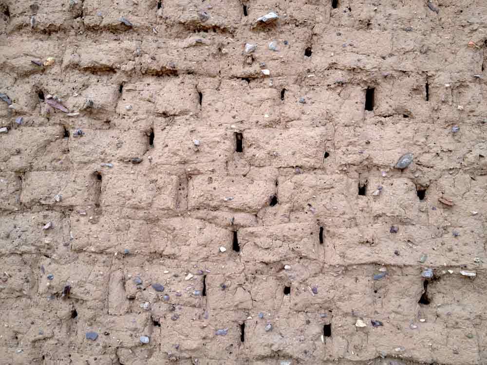 detail of adobe building in Placitas