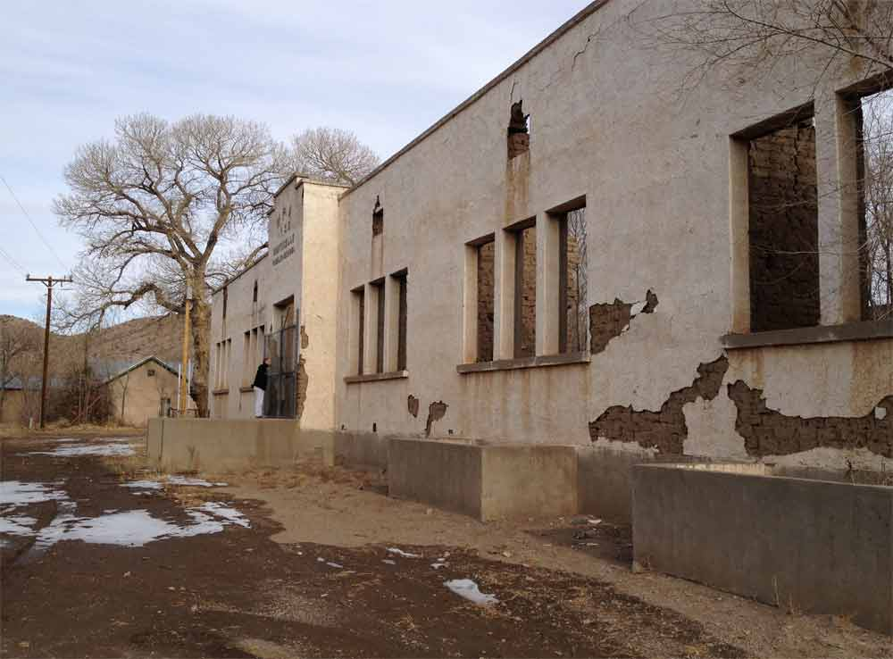 WPA school in Monticello New Mexico
