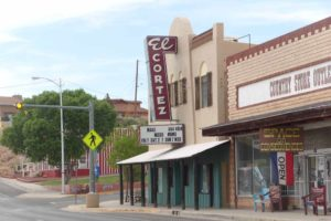 El Cortez theater on Main Street in Truth or Consequences
