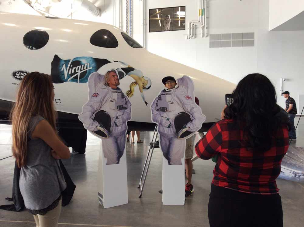 Spaceport America - cardboard cutout of Richard Branson