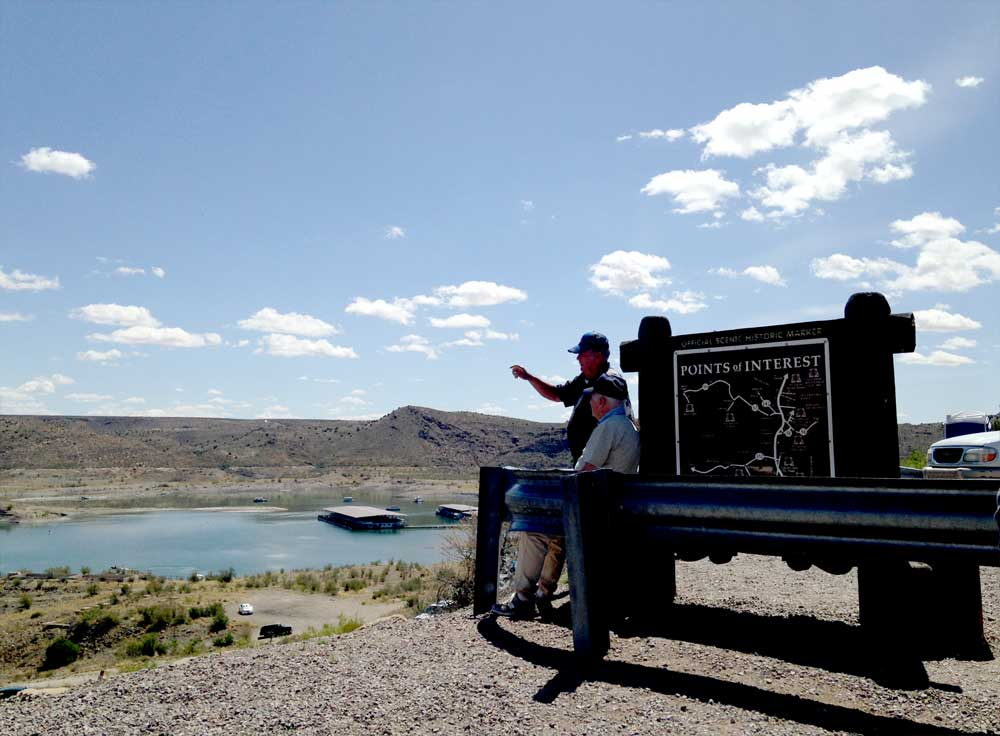 couple of oldtimers at the Elephant Butte Dam Overlook