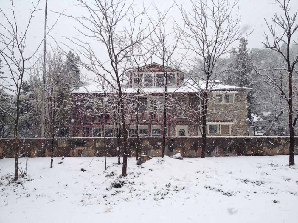 Black Range Lodge in snow