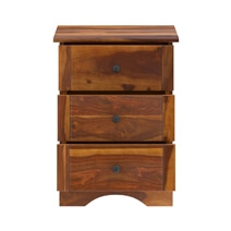Gisela Handcrafted Rustic Solid Wood 3 Drawer File Cabinet