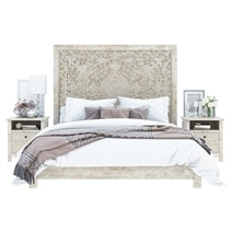 Calistoga Weathered 4 Piece Bedroom Set
