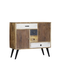 Binghamton Rustic Reclaimed Wood Dresser with 2 Cabinets And 4 Drawers