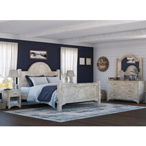 Gothic Winter White 4 Piece Bedroom Set