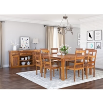 Appalachian Solid Wood 10 Piece Dining Room Set