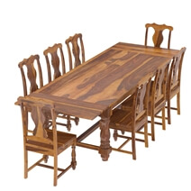 Oroville Rustic Solid Wood 10 Piece Dining Room Set
