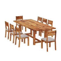 Delaware Rustic Solid Wood Dining Table and Chair Set