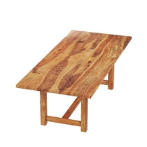 Delaware Rustic Solid Wood Rectangular Dining Table