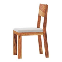 Delaware Rustic Solid Wood Dining Chair with Upholstered Seat