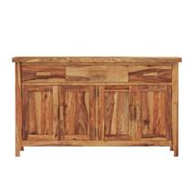Delaware Rustic Solid Wood 3 Drawer Large Sideboard Cabinet