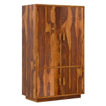 Brocton Rustic Solid Wood Large Modern Clothing Armoire Wardrobe