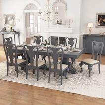San Marino Solid Mahogany Wood Double Pedestal Dining Table