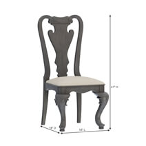 San Marino Solid Mahogany Wood Dining Chair with Upholstered Seat