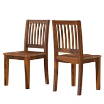 Modern Simplicity Handcrafted Rustic Wood Dining Chair