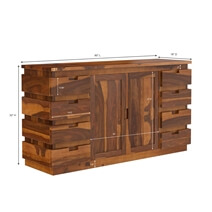 Modern Simplicity Rustic Solid Wood 8 Drawer Large Sideboard