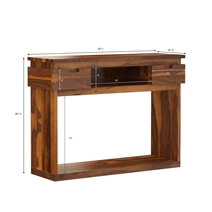 Modern Simplicity Rustic Solid Wood Console Table with 2 Drawers