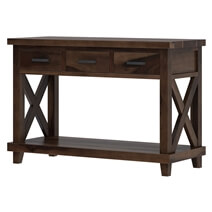 Antwerp 2 Tier Solid Wood Console Hall Table with 3 Drawers