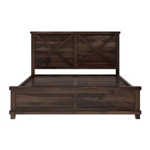 Antwerp Rustic Farmhouse Solid Wood Platform Bed Frame