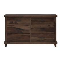 Antwerp Rustic Solid Wood Bedroom Dresser with 6 Drawers