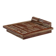 Dallas Ranch Rustic Solid Wood Low Height Platform Bed
