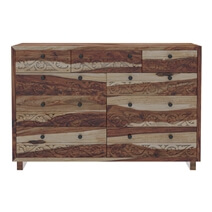 Dallas Ranch Modern Rustic Solid Wood Large Dresser With 9 Drawers