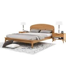 Avondale Modern Style Teak Wood Platform Bed