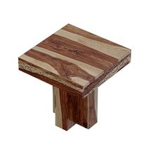 Dallas Ranch Rustic Solid Wood Hand Carved End Table