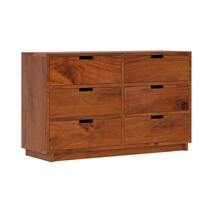Batesville Mahogany Wood White Bedroom Dresser With 6 Drawers