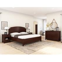Bradenton Solid Mahogany Wood 4-Piece Bedroom Set