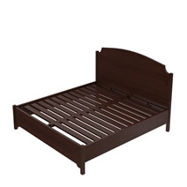Bradenton Solid Mahogany Wood Low Profile Platform Bed