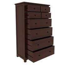 Bradenton Solid Mahogany Wood Tall Dresser with 8 Drawers