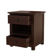 Bradenton Solid Mahogany Wood Nightstand with 2 Drawers