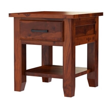 Sierra Nevada Rustic Solid Wood Nightstand with Drawer