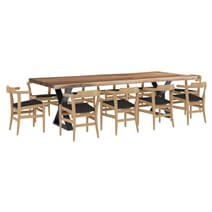 Laconia Solid Wood Live Edge 12 Piece Dining Room Set