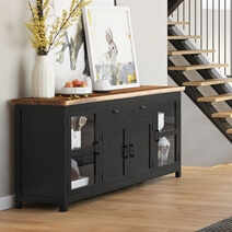 Laconia Solid Wood Live Edge Extra Long Buffet Cabinet