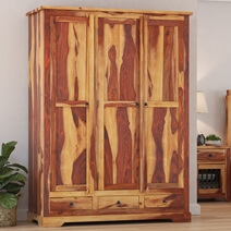 Crossett Solid Wood Large Clothing Armoire with Shelves & Drawers