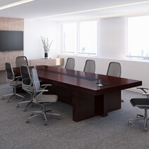 El Alto Solid Mahogany Wood Rectangle Large Conference Table